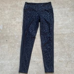 Victoria's Secret Black Leopard Knockout Leggings